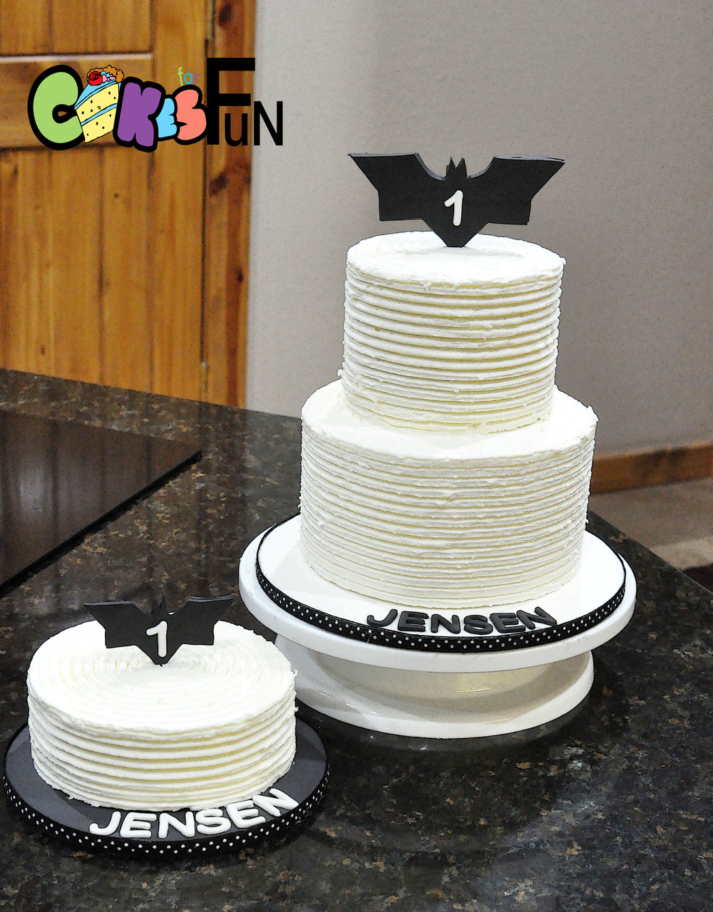 batman with rustic buttercream.jpg