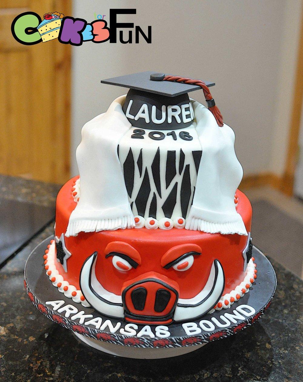 Arkansas Razorback Grad Cake.jpg