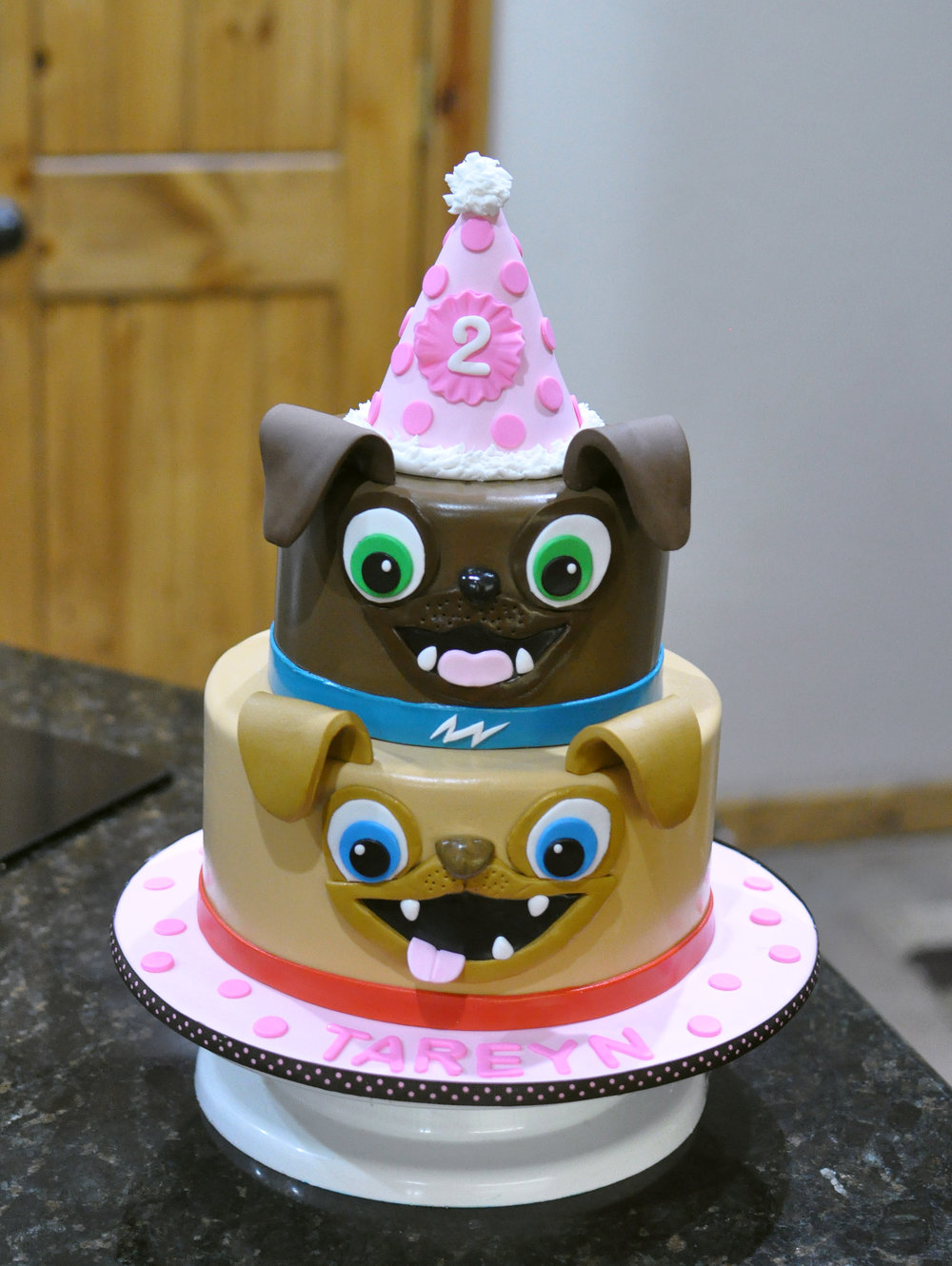 There you go - a cute little party hat that adds a great touch on a kids birthday cake!!