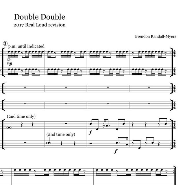 We hit the studio in May | Just got our hands on @brendon.randallmyers revision of Double Double fer RL's unique spicy double trio