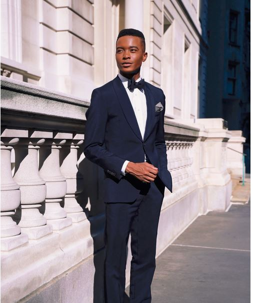Photographed by, Xavier Duah. Tuxedo /  Billy Reid  . Joe Cap Toe Oxford Shoes /  Jack Erwin  . Wrist Watch /  Daniel Wellington  / Styling by Donnell Baldwin