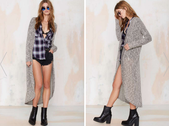 Melissa Duster Cardigan, on sale for $29 at    NastyGal.com .