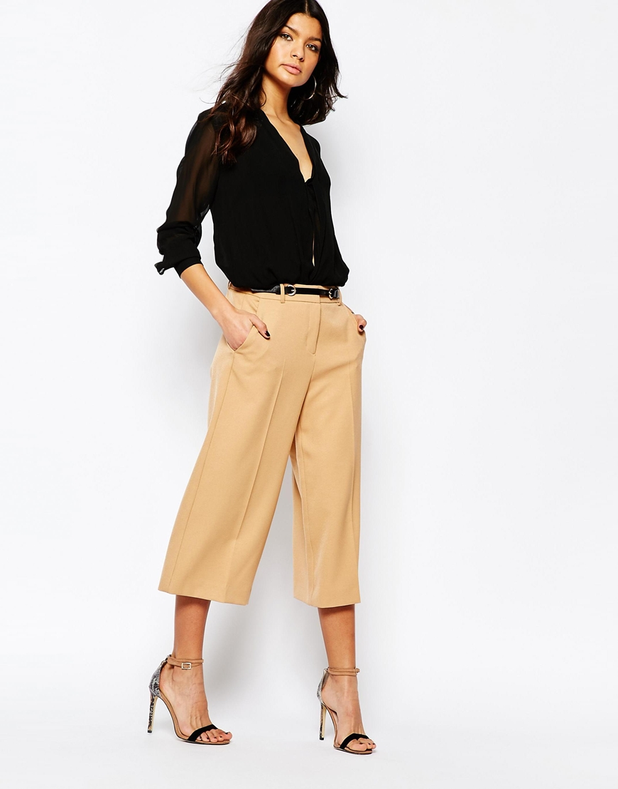 River Island Culotte with Belt, $66 at    ASOS.com .