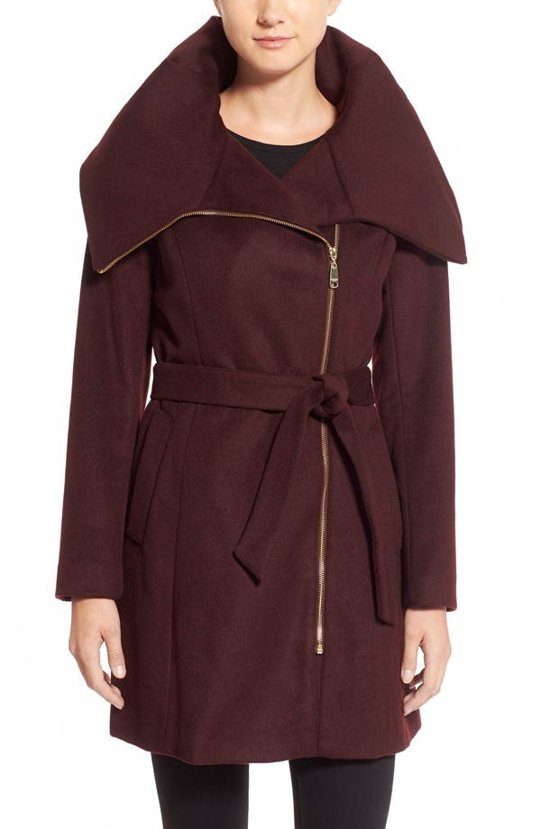 Cole Haan Signature Belted Asymmetrical Wool Blend Coat, $170 at    Nordstrom.com   .