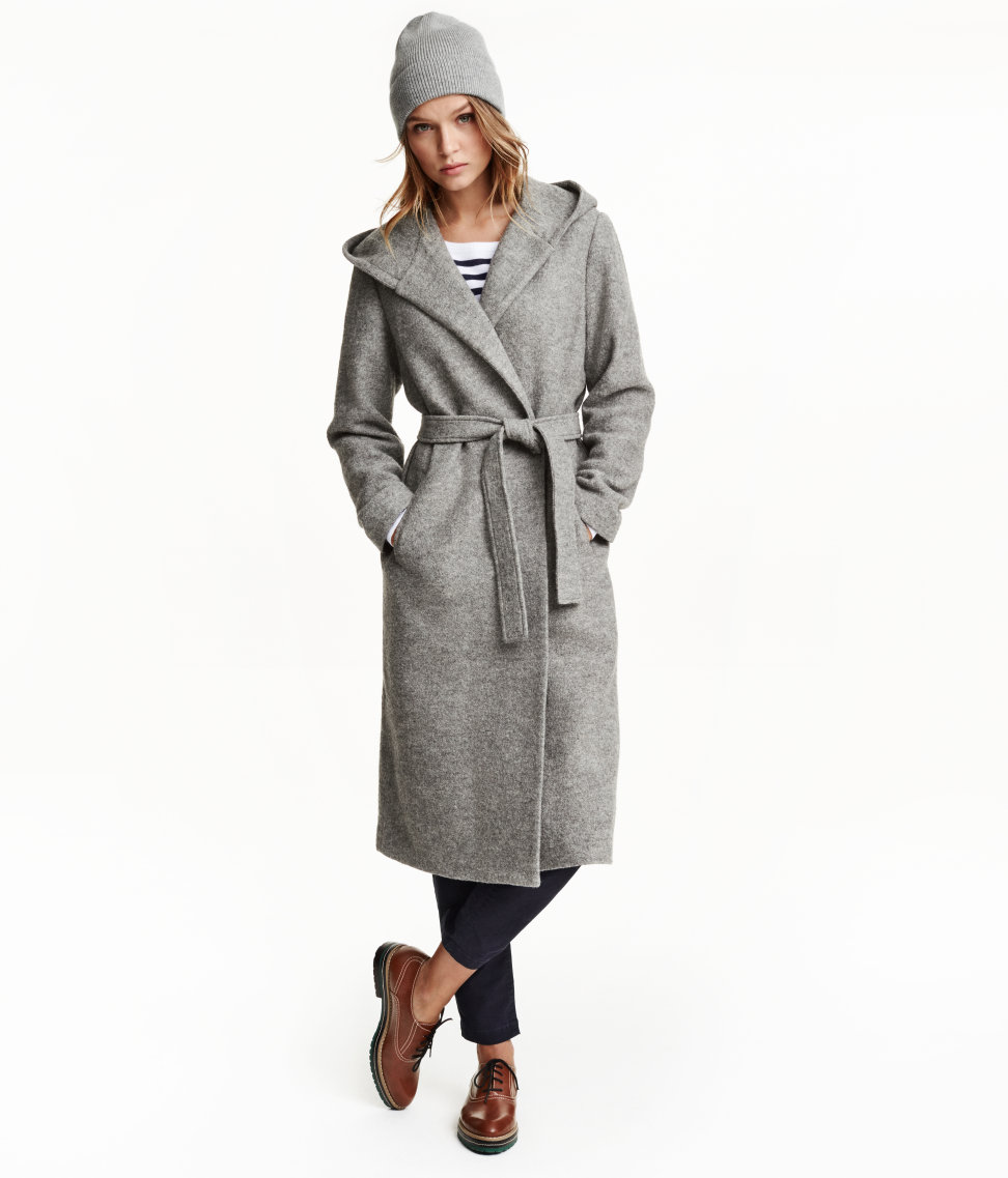 H&M Hooded Wool-blend Coat, $99 at    HM.com   .