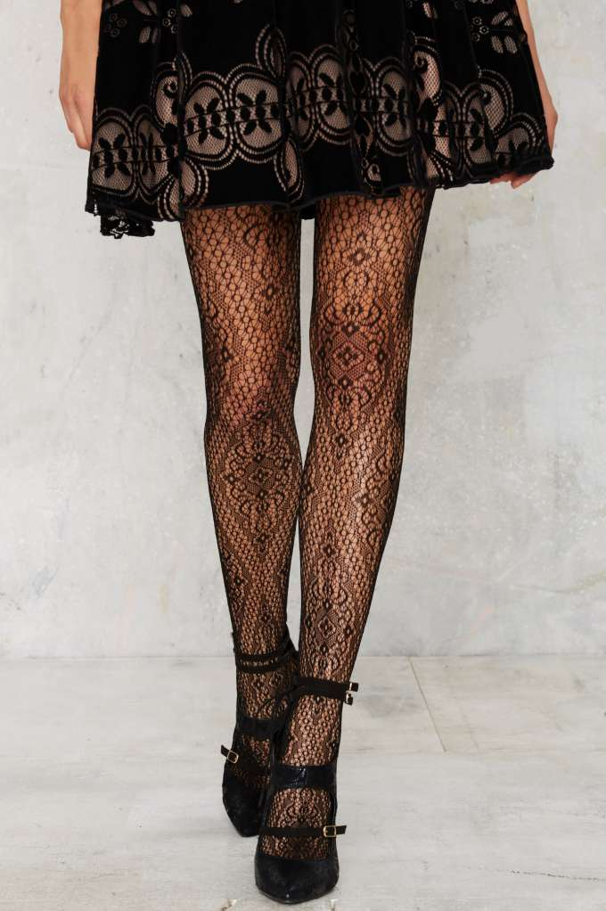 Look From London Like a Diamond Tights, $30 at    NastyGal.com .