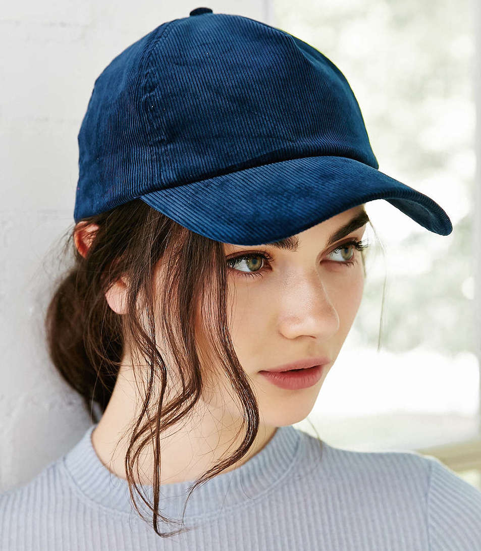 Corduroy Baseball Hat in Navy, $24 at    UrbanOutfitters.com .