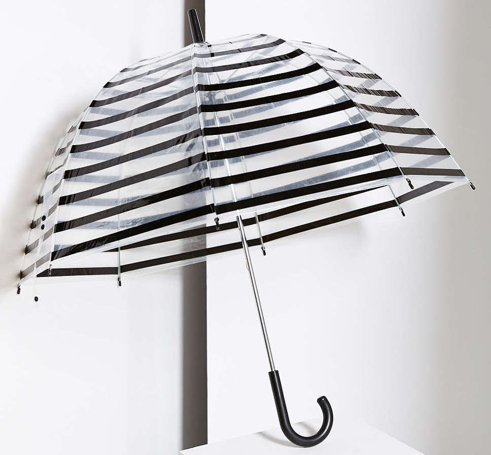 Stripe Bubble Umbrella, $24 at    UrbanOutfitters.com .