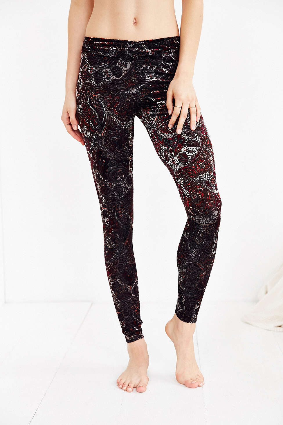 Out from Under Burnout Velvet Legging, $44 at    UrbanOutfitters.com   .