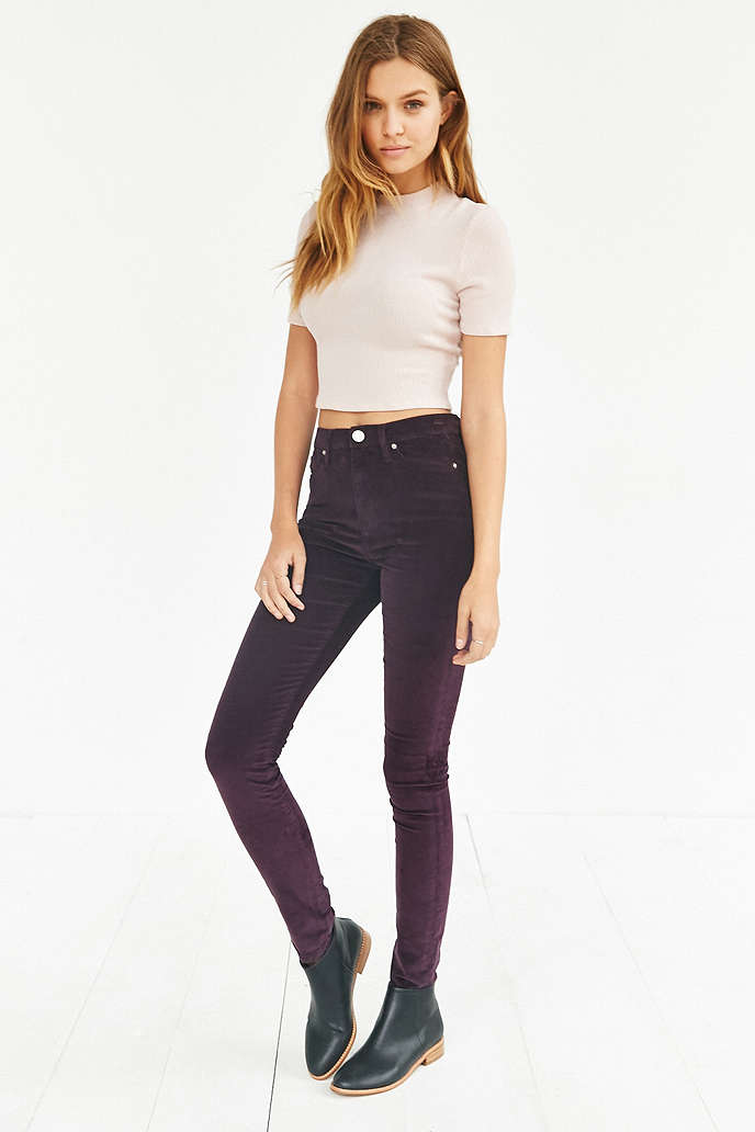 BDG Twig Corduroy High-Rise Skinny Pant in Maroon (also available in other colors), $39 at    UrbanOutfitters.com   .