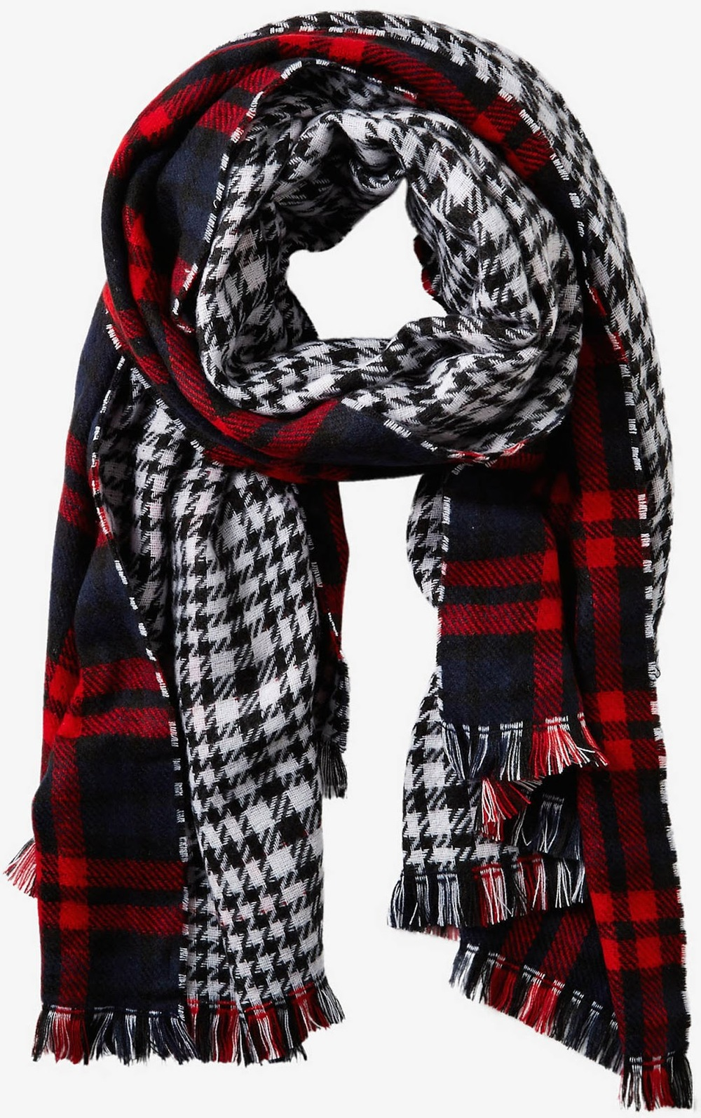 Reversible Double Plaid Blanket Scarf, $49.90 at    Express.com .