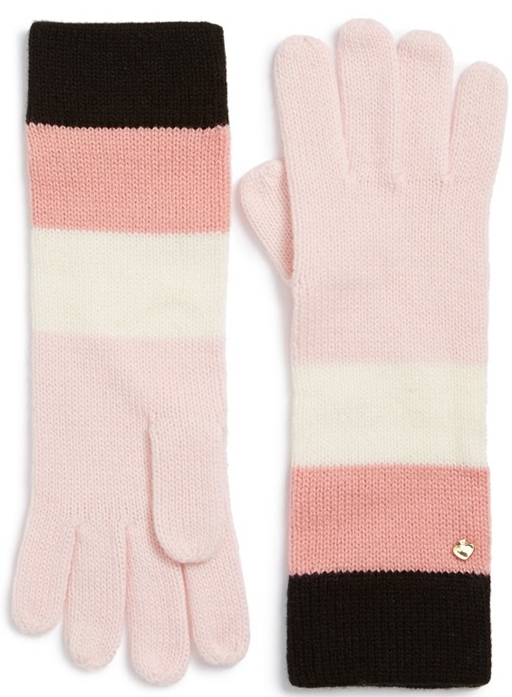 Kate Spade New York Colorblock Stripe Gloves, $48 at    Nordstrom.com .