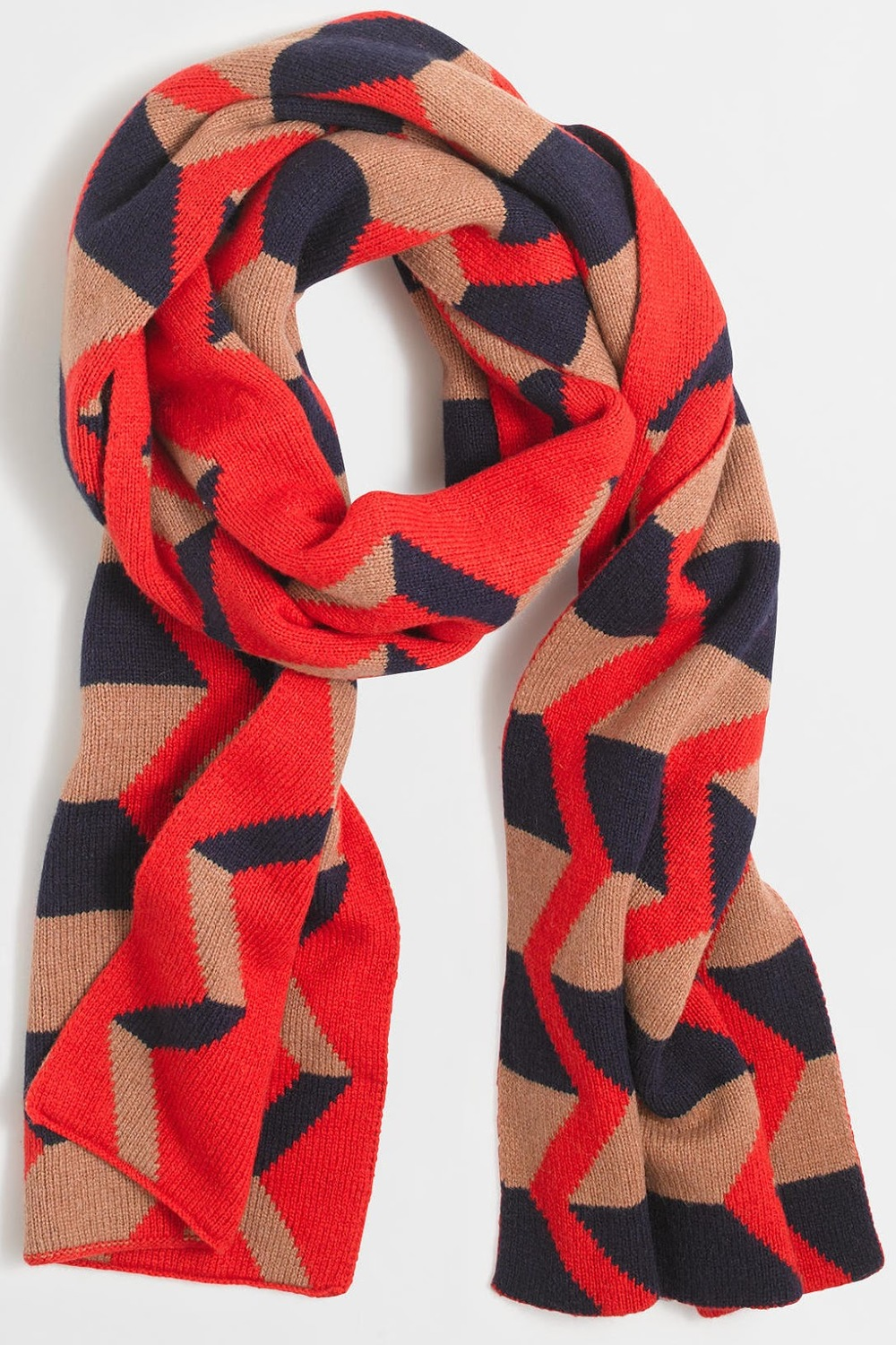 J.Crew Factory Zigzag Striped Scarf, $49 at    Factory.Jcrew.com .
