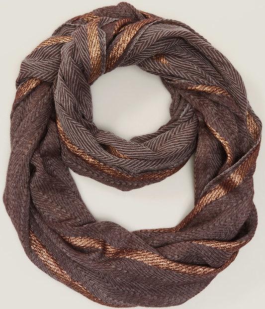 LOFT Shimmer Stripe Infinity Scarf, $34.50 at LOFT.com.