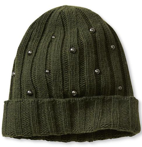 Banana Republic Studded Beanie in Mistletoe, $49.50 at BananaRepublic.Gap.com.