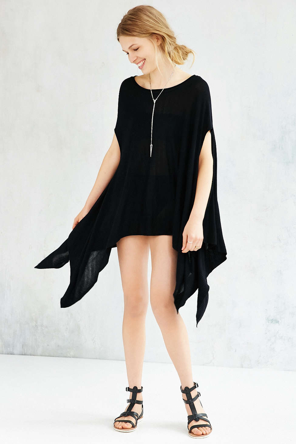 Silence + Noise Alina Poncho Sweater, $69 at UrbanOutfitters.com.