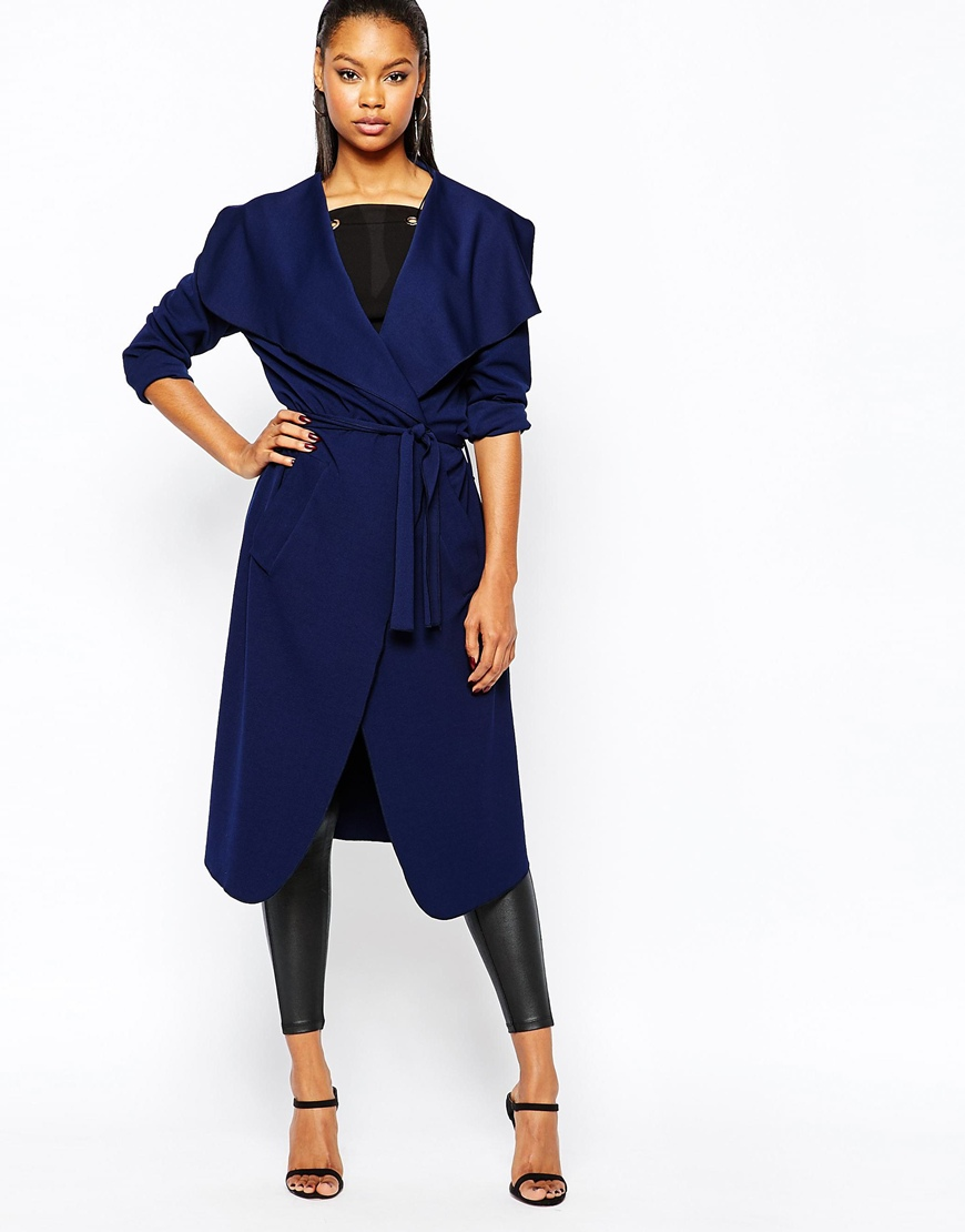 Boohoo Waterfall Light Weight Jacket in Navy, $45 at ASOS.com.