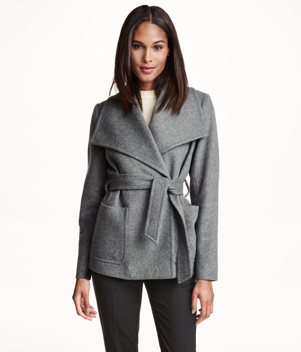 H&M Conscious Wool-Blend Jacket in Dark Gray, $99 at HM.com.