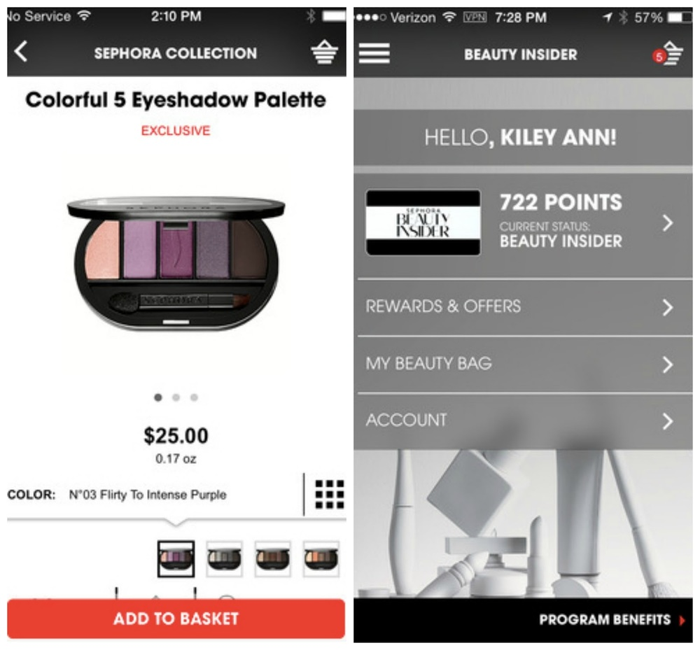 Sephora To-Go App, Free for iPhone and Android.