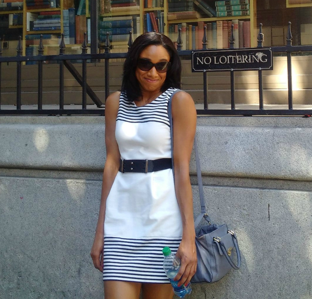 Being a rulebreaker outside of The Last Bookstore in LA. Dress from Madewell. Similar cut available here for $138.