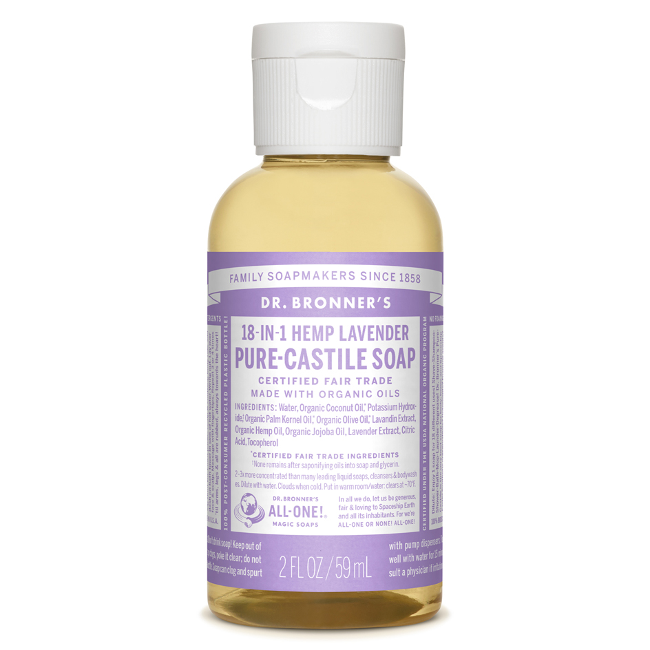 Dr. Bronner's Lavender Pure-Castile Liquid Soap - 2 oz., $2 at Target.com.