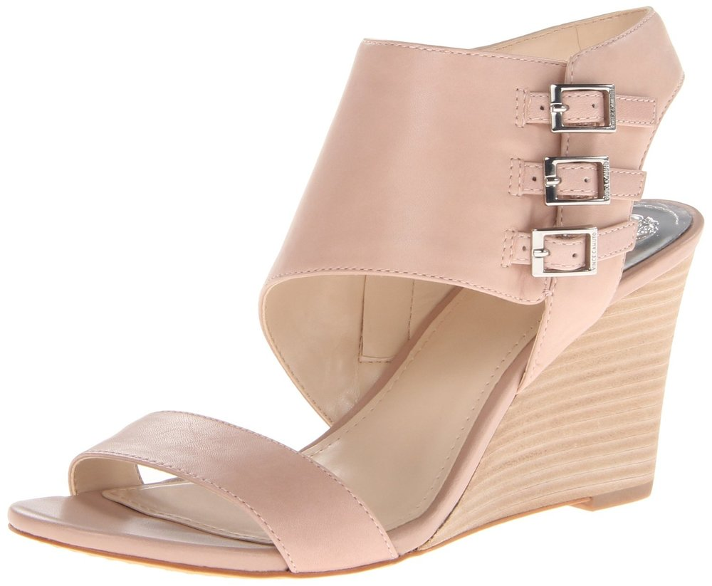 "Vince Camuto ""Lyssia"" Wedge Sandal in Sandbar, approximately $35,    Amazon   ."