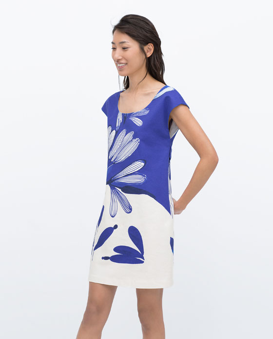 Zara Printed Dress, $80 at Zara.com.