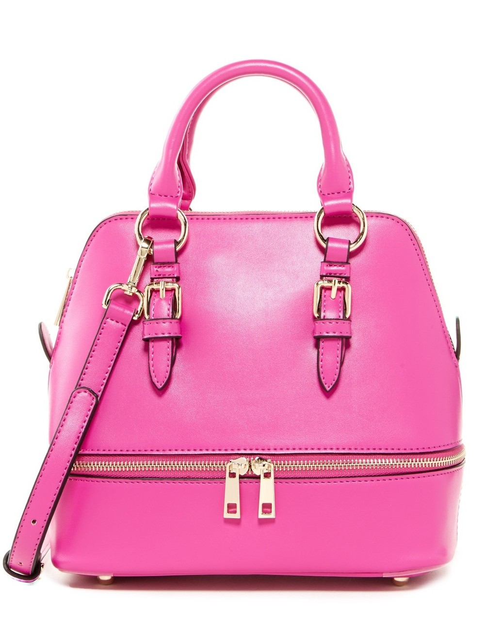 Sondra Roberts Small Bowler Satchel in Pink (also available in yellow and black), $50 at NordstromRack.com.