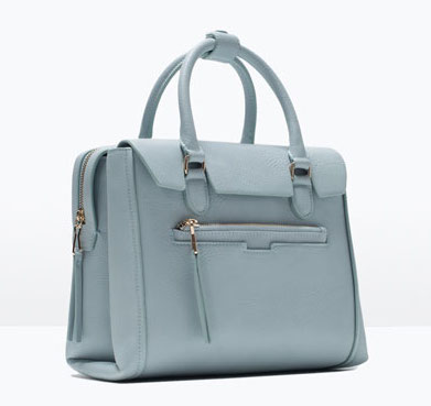 Mini City Office Bag in Sky Blue, $80 at    Zara.com.