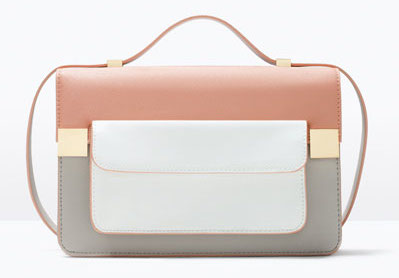 Color Block Messenger Bag, $80 at Zara.com.