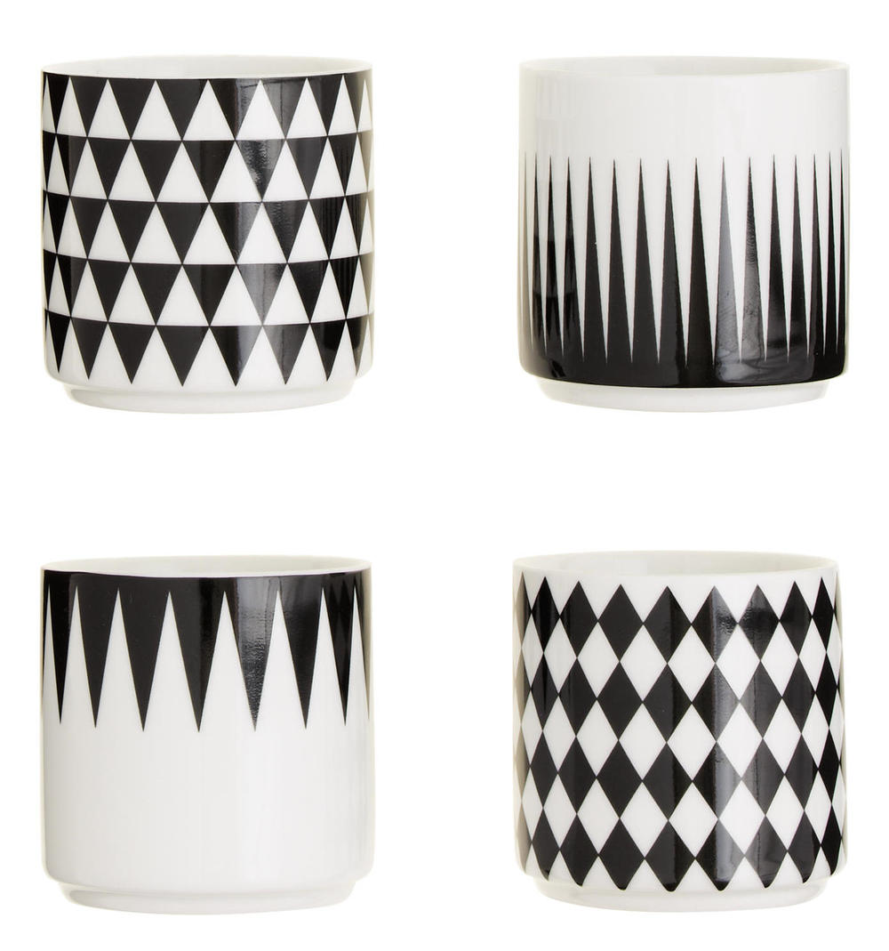 Ferm Living™ Geometry Espresso Cups, $42 at    JCrew.com   .