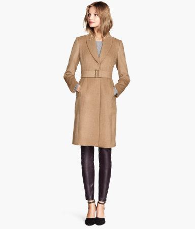 H&M Wool-blend Coat in Camel, $99 at    HM.com   .