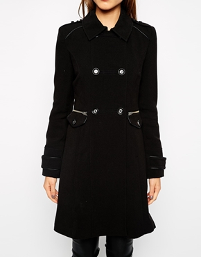 ASOS Warehouse Crepe Coat, $180 at    ASOS.com.