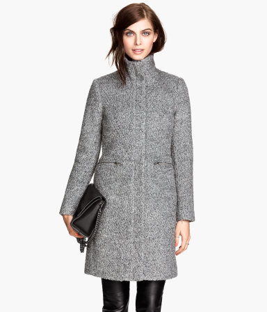 H&M Wool-blend Bouclé Coat, $99 at    HM.com   .