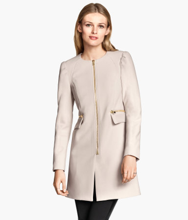 H&M Short Coat, $80 at    HM.com   .