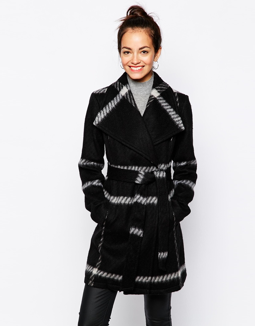 ASOS New Look Check Wrap Coat, $123 at    ASOS.com   .