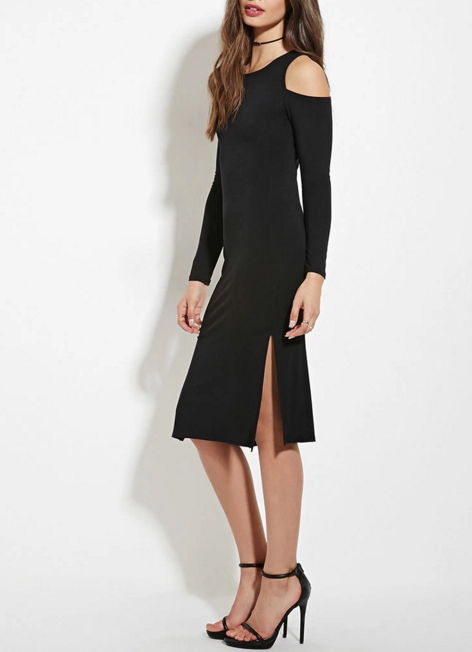 Open-shoulder dress, $23 at Forever21.com.