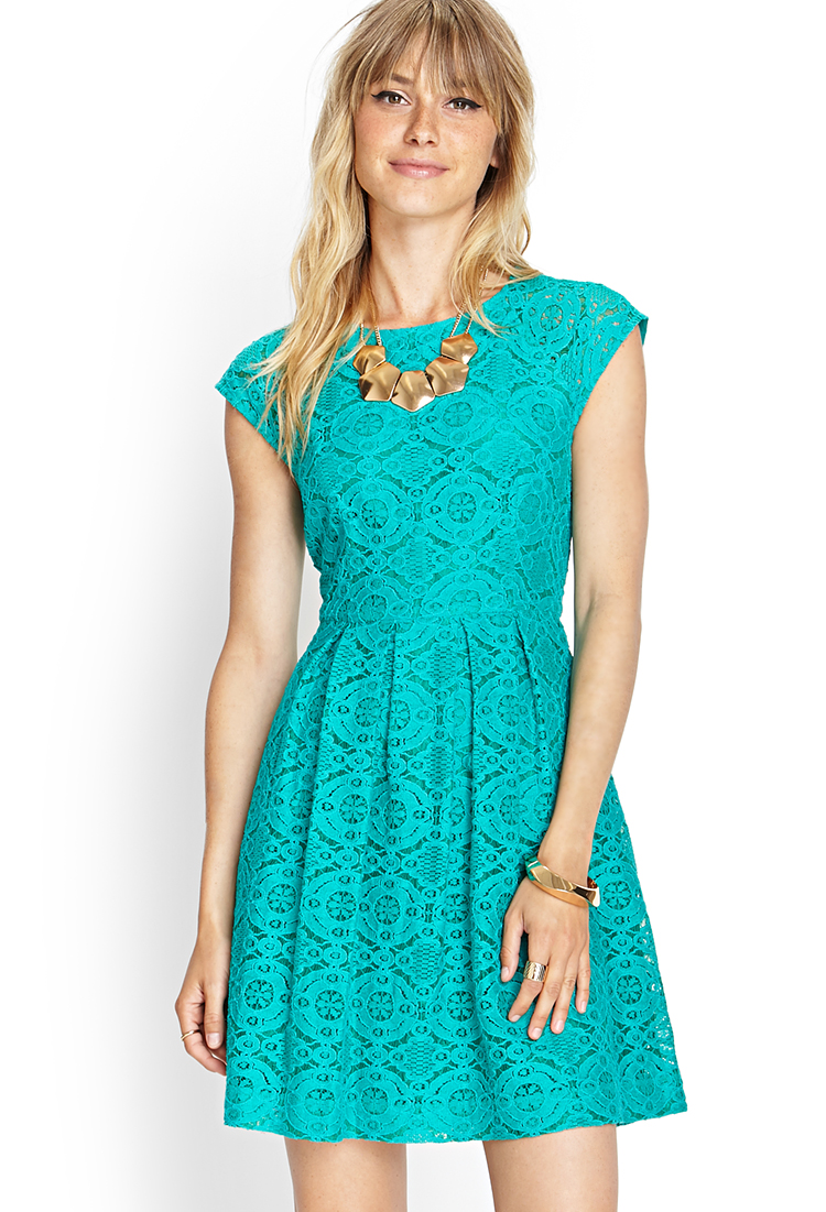 Forever21 Darling Lace Fit & Flare Dress, $23 at  Forever21.com  (available in several colors!).