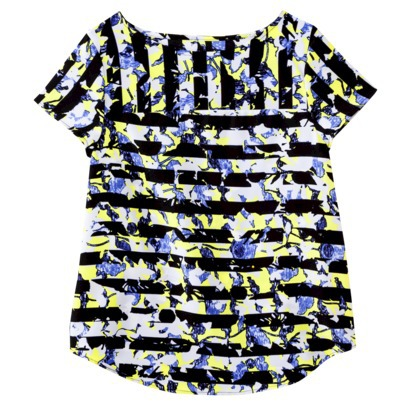 Peter Pilotto® for Target® Top -Green Floral Stripe Print, on clearance for $11 at Target.com.