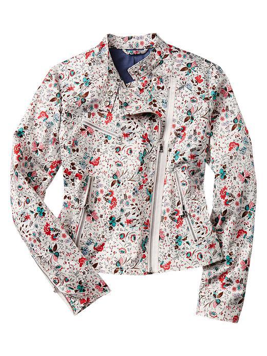 Gap Floral Moto  Jacket, on sale for $70 at   Gap.com  .