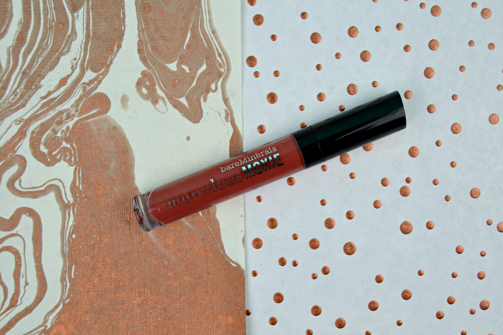 BareMinerals Marvelous Moxie Lipgloss in Maverick, $18 at    Sephora.com   .