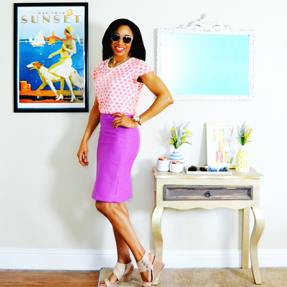 How I recently styled a wool pencil skirt from J.Crew for the office.