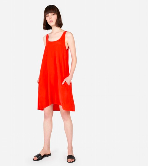 Everlane Silk Tank Dress in Persimmon, $88 at    Everlane.com .