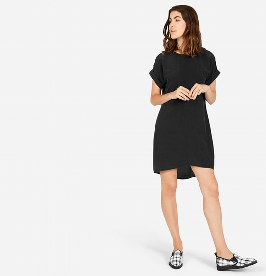 Everlane Silk Short-Sleeve Dress, $98 at    Everlane.com .