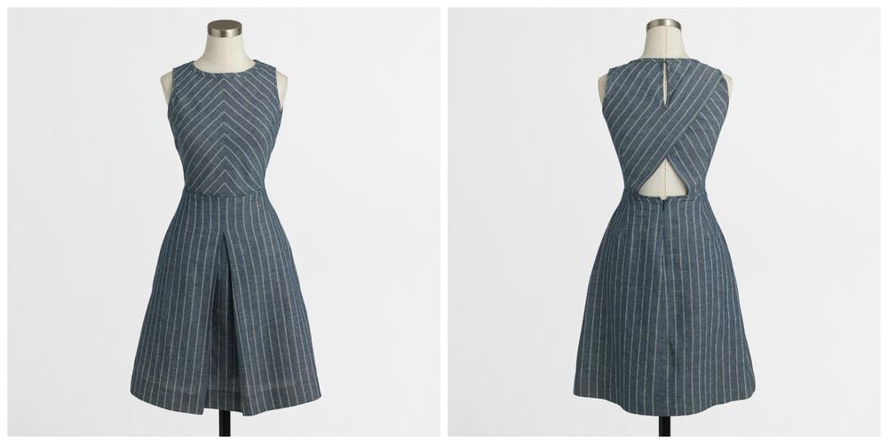 J.Crew Factory Chevron-Striped Dress, $64 at    Factory.Jcrew.com