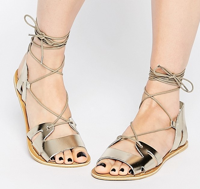 ASOS Fuerta Lace Up Leather Sandals, $36 at ASOS.com.