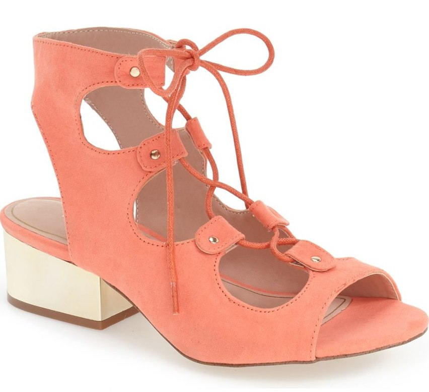 Topshop 'Daily' Ghillie Sandal in Coral, $48 at Nordstrom.com (also available in black and tan).