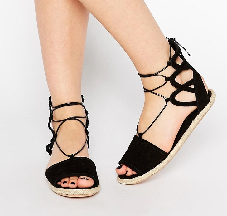 Boohoo Boutique Lace Up Suede Espadrille, $32 at ASOS.com.