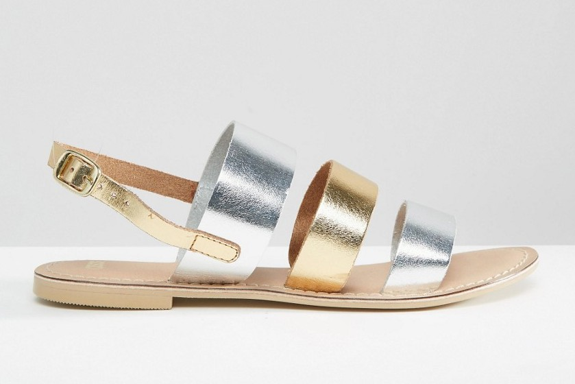 ASOS Falon Leather Flat Sandals, $33 at ASOS.com.