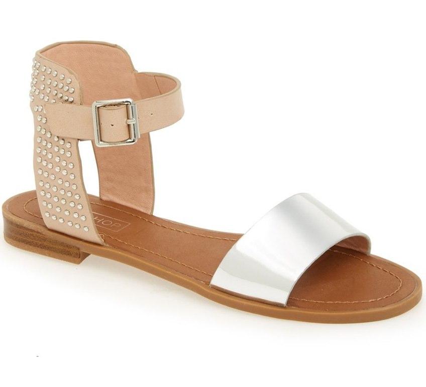 """Topshop """"Hot Stud"""" Ankle Strap Sandal, $48 at    Nordstrom.com   ."""